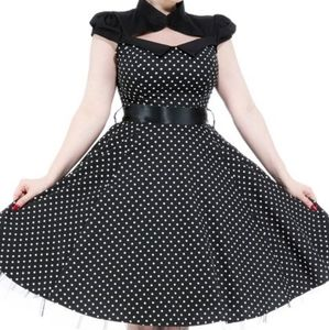 Black & White polka dot choker dress